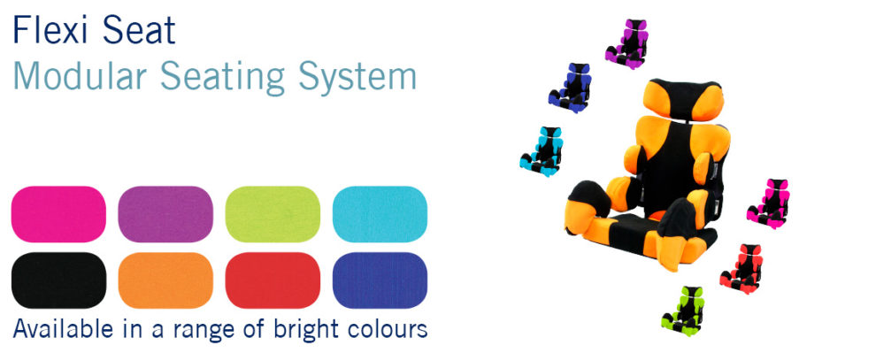 SOS Flexi Seat colour options - available in a wide range of colours