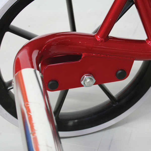 MoJo wheelbases have 3 rear wheel position settings. For extra stability when required. Not available on Stroller