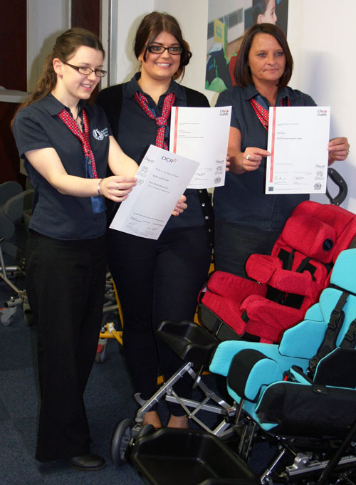 NVQ award for sos staff