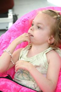 Tia Sitting in her SOS P Pod