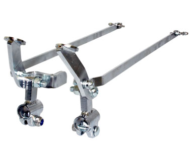 Attendant parking brakes for wheelchairs.  Convert standard wheelchair brakes to foot operated attendant brakes. SOS. Specialised Orthotic Services