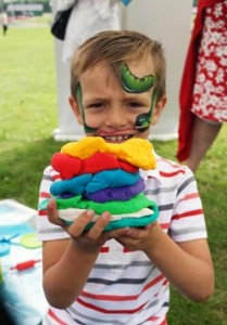 Boy Playing With Play Doh at PlayDay 2015