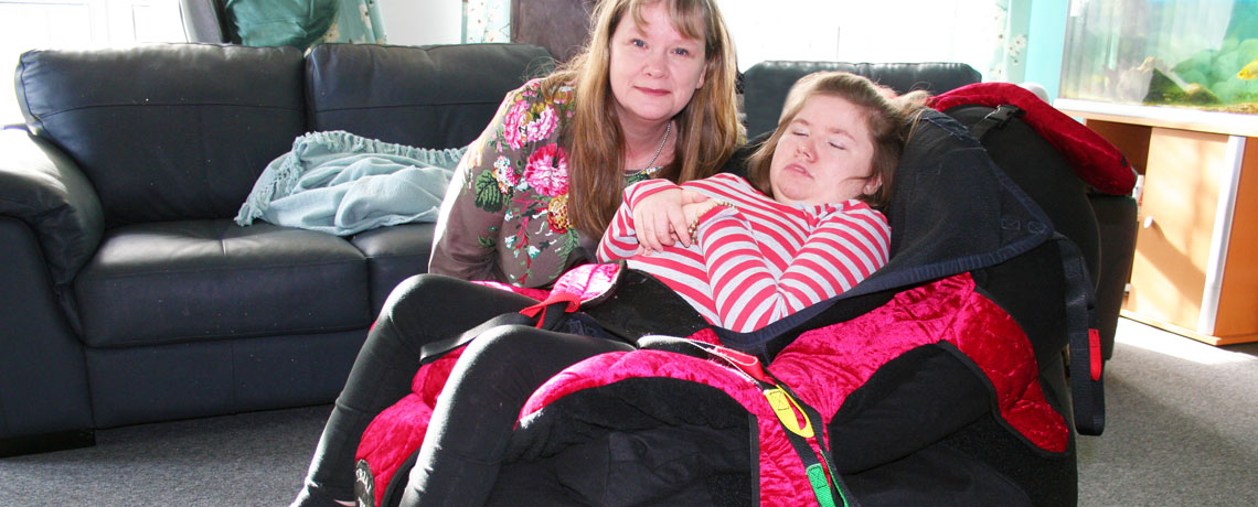 SOS donate P Pod to supported living service Charlotte and Tracy