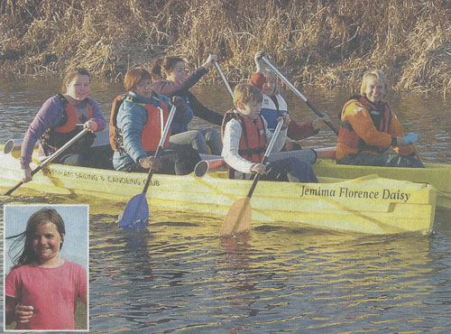 SOS donations were used to help fund a Katakanu in memory of Jemima Prees from Cippenham Canoe Club