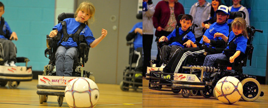 Electric Eels Powerchair Football Club use Poziform Harness for security