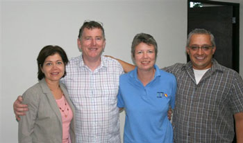 Gordon and Claire with MEDiCT staff in Mexico