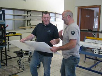 Gordon and Richard Hard at work in Mexico, Charity work for MEDiCT Specialised Orthotic Services