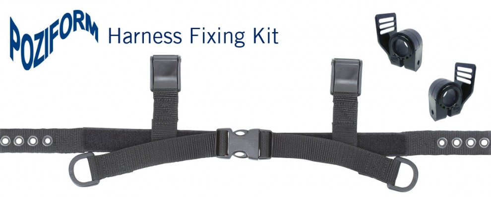 Poziform Harness Fixing Kit used to attache harnesses to your canvas wheelchair or SOS wheelbase | Specialised Orthotic Services | SOS