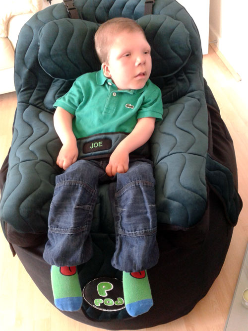 Joe looking comfy in his PPod from Specialised Orthotic Services
