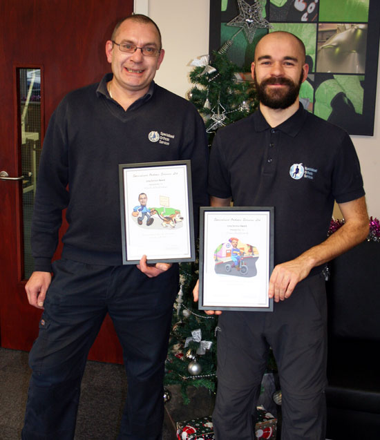 mark-whittaker-dan-sheppard-10-years-service-at-SOS