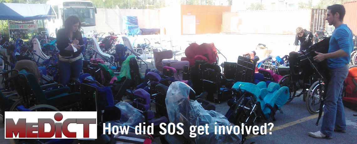 How did SOS get involved with MEDiCT Mexican Disabled Childrens Trust