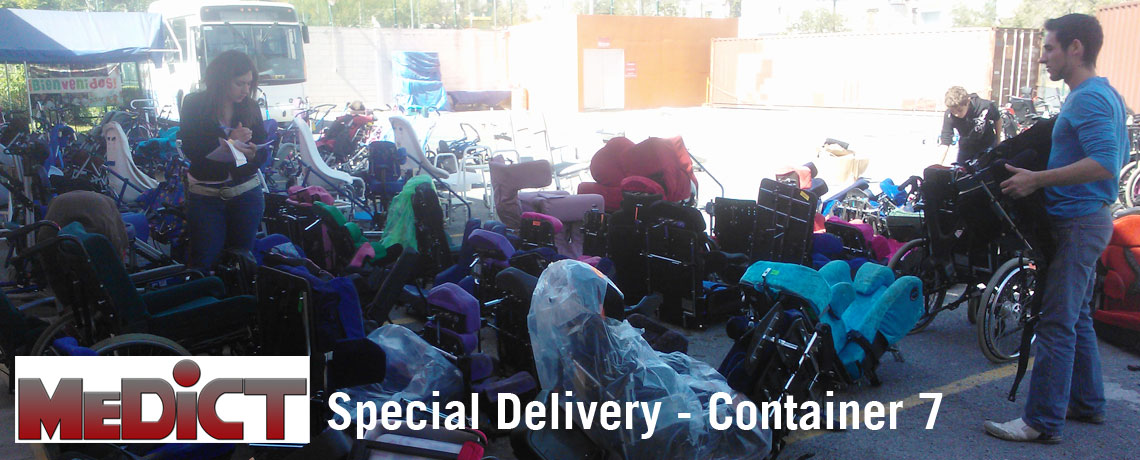 MEDiCT Mexican Disabled Children s Trust receiving the latest shipment of special seating products