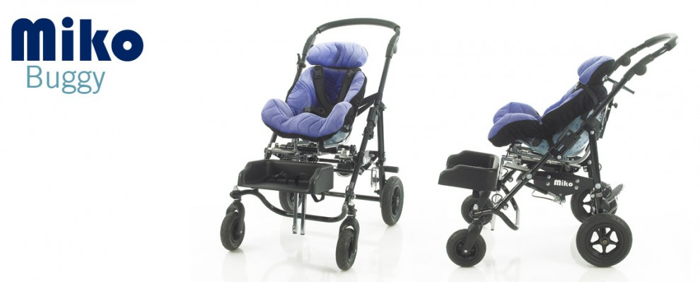Miko Buggy style wheelchair, pushchair for special seating needs shown with MSI seating system