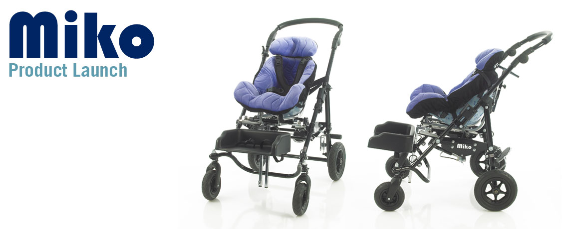 New wheelbase and mobility product, the MiKo is now available, Buggy Style Wheelchair base for custom seating