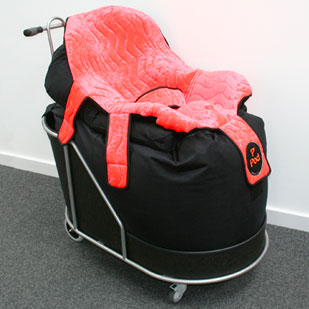 The P Pod Mobile base makes the P Pod easy to maneuver indoors whilst the client is seated.