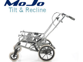 MoJo special seating wheelbase with 'Tilt in Space' and 'Backrest Recline Function' to allow more versatile adjustments with modular style seating systems.