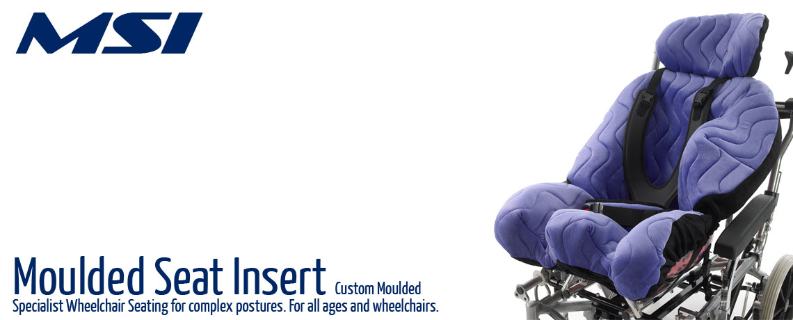 MSI Moulded Seat Insert, custom moulded wheelchair seating from Specialised orthotic Services for complex special seating needs