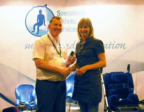 PMG competition winner at PMG Exhibition 2010 with Gordon McQuilton
