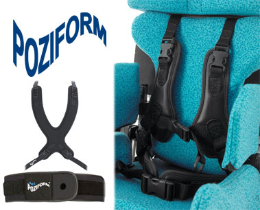 Poziform Harness and universal pads for Wheelchairs and Specialist Seating | Specialised Orthotic Services | SOS