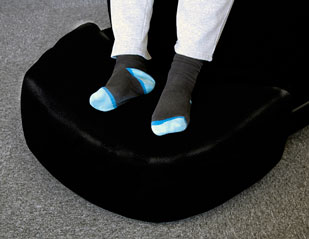 The P Pod Foot Bolster helps clients feel more grounded and prevents overstretching.   It acts as a foot stool for the P Pod