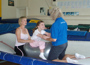 Rebound Therapy using trampolines to provide theraputic exercise and recreation for special needs