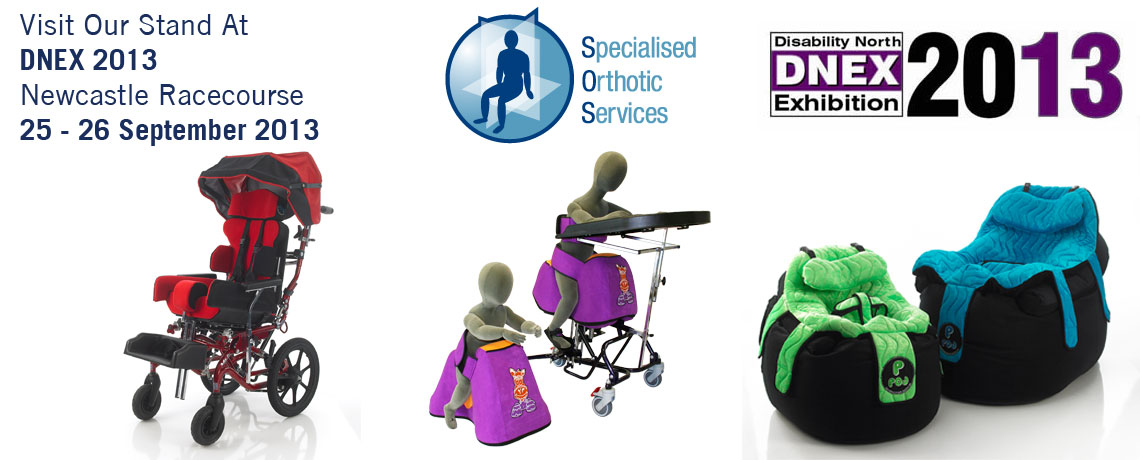 Specialised Orthotic Services will be exhibiting at DNEX 2013 Exhibition.  Displaying a range of our products including Nessie, P Pod and the new equipoise