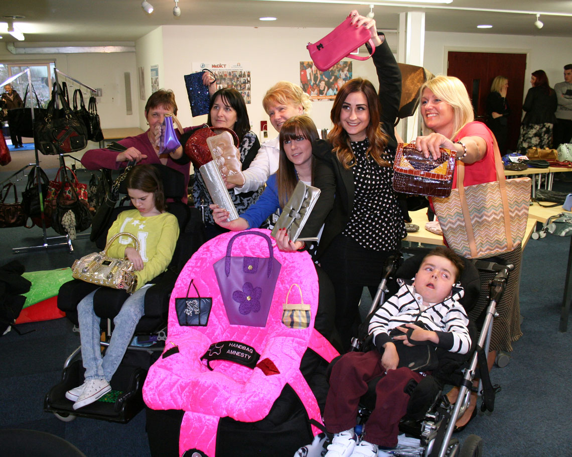 sos handbag amnesty ppod donation to rainbows