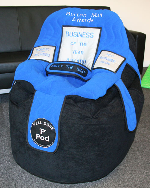 A Special Edition P Pod to commemorate the Burton Mail Business Awards