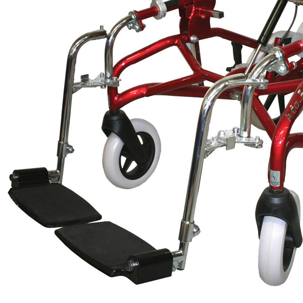 Swing aside footrests height adjustable and removable. Alternative for the Mini, Midi and Maxi wheelbases.