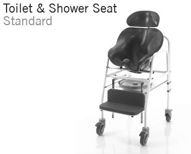 Toilet and Shower Seat   Custom moulded toilet and shower seating with fixed frame   Bathroom mobility   Continence management for children and adults   Specialised Orthotic Services   SOS