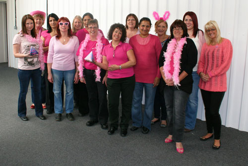 SOS ladies wear it pink for Breast Cancer Research